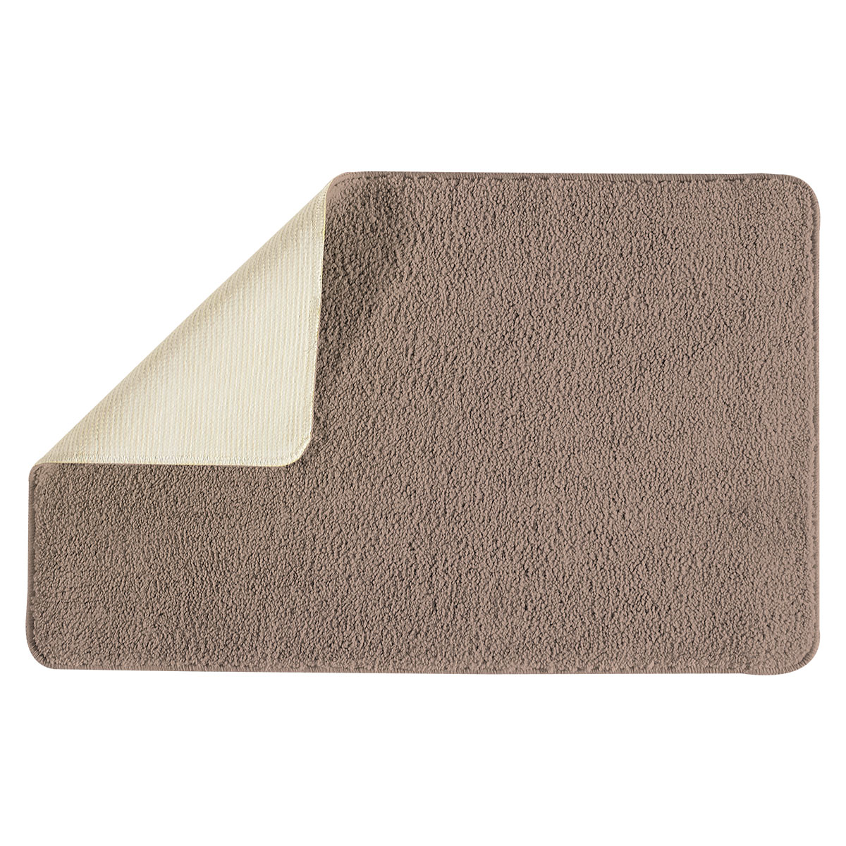 tapis de bain polyn sie acrylique marron taupe ebay. Black Bedroom Furniture Sets. Home Design Ideas