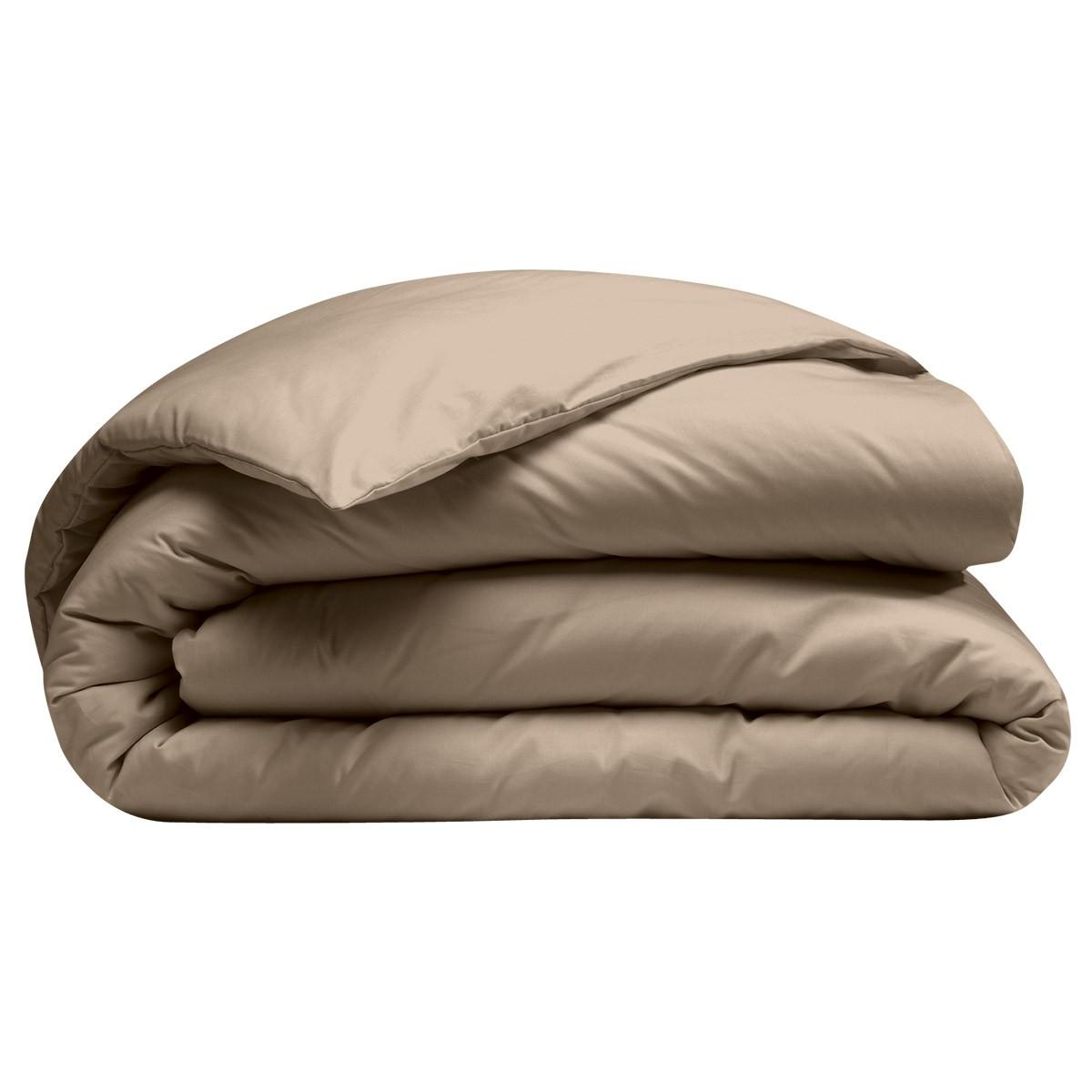 Housse De Couette 100 Coton Bio Uni Taupe 4 Tailles Ebay