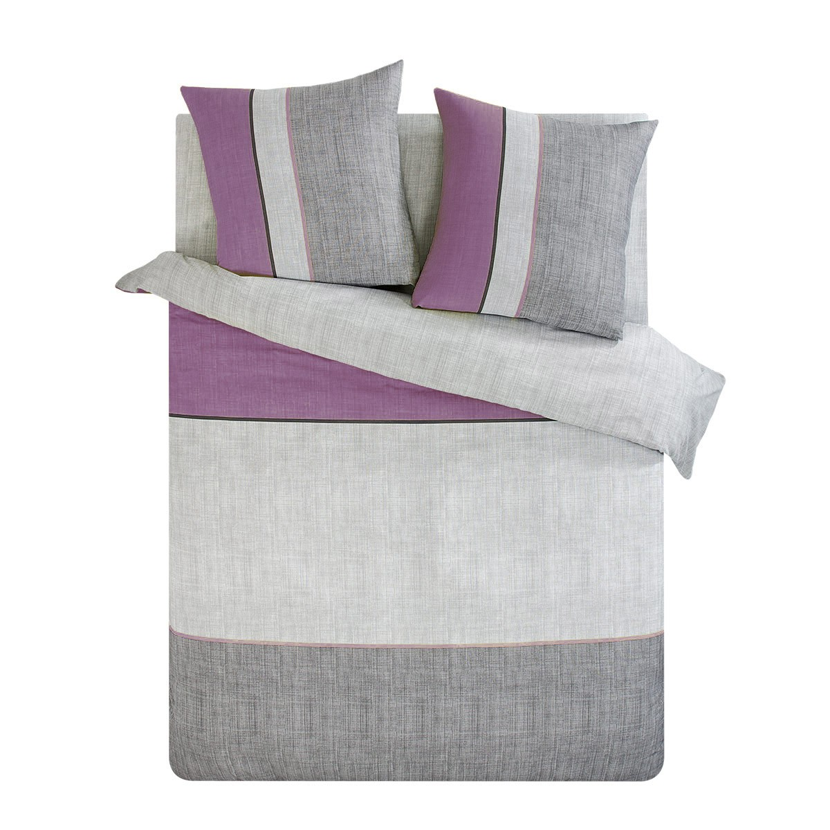 parure housse couette violet achat pas cher avec kibodio. Black Bedroom Furniture Sets. Home Design Ideas
